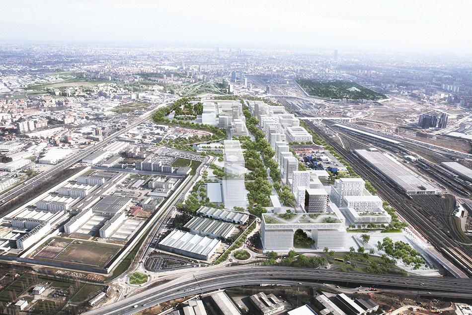 Parc des sciences et de l'innovation, Milan, Italie, en cours © CRA team (Gary di Silvio, Gianluca Zimbardi) and Arch018