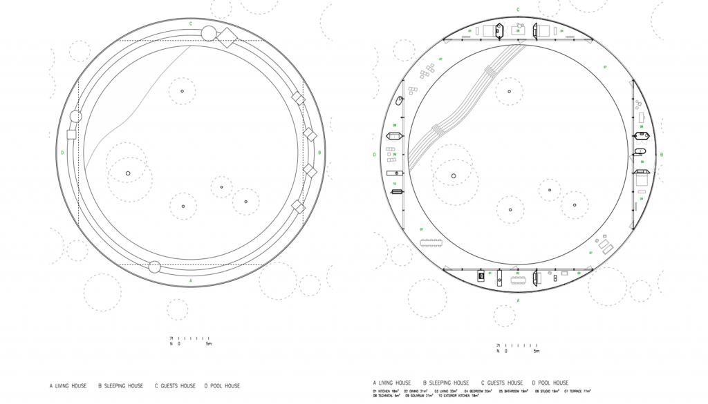 Plan de toiture, plan du niveau © OFFICE