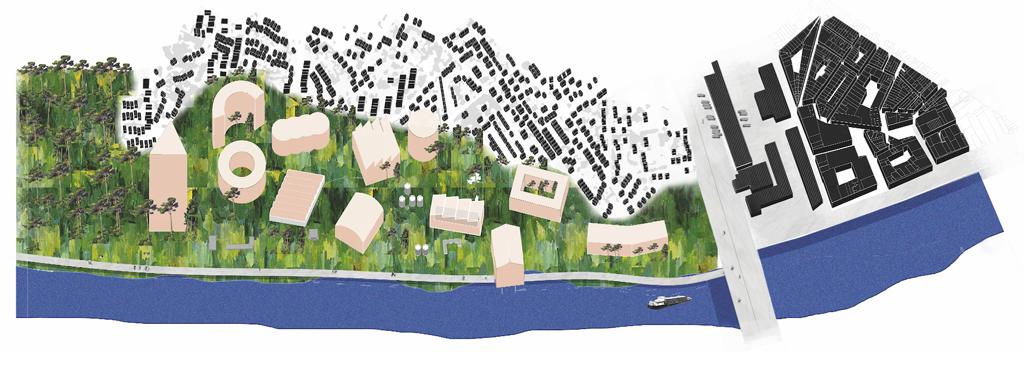 """""""Bègles et les machines urbaines"""", Rosalie Robert, Pauline Percheron, projet mentionné © Bègles et les machines urbaines, Europan France"""