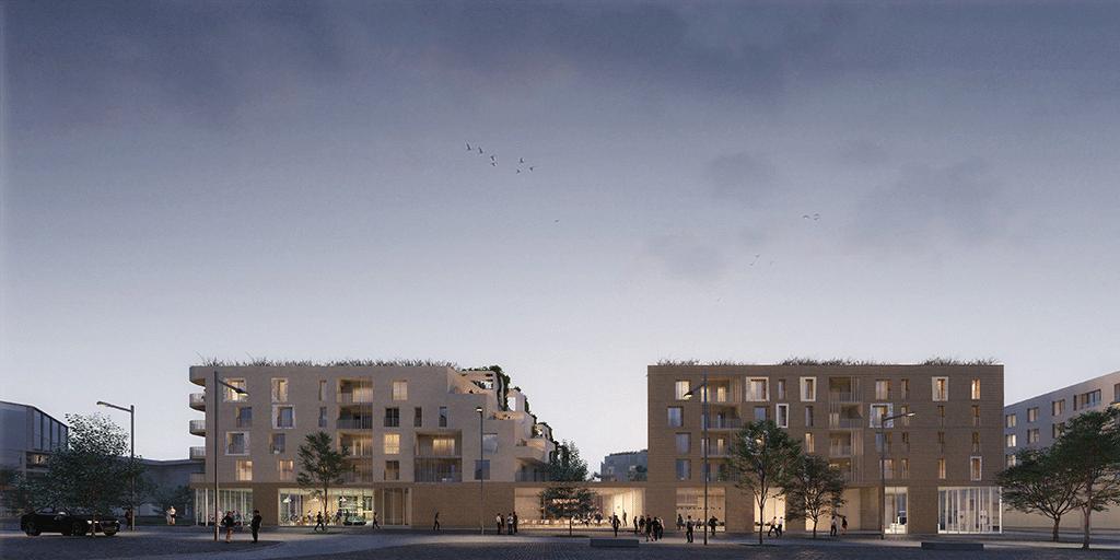 Construction d'un ensemble de logements, Châtenay-Malabry Parc Centrale, © Atelier(s) Alfonso Femia & Diorama