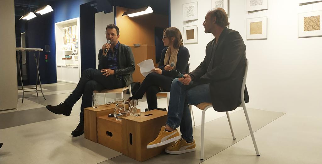 De gauche à droite : Stéphane Maupin, Emmanuelle Borne et Raphaël Vital-Durand © Victorien Diaz