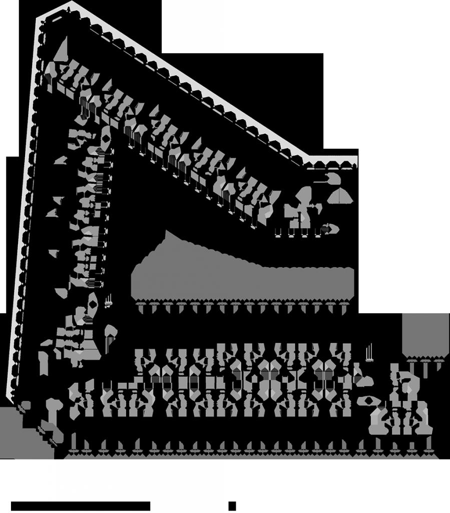 Plan R+2 © AAVP Vincent Parreira Atelier Architecture