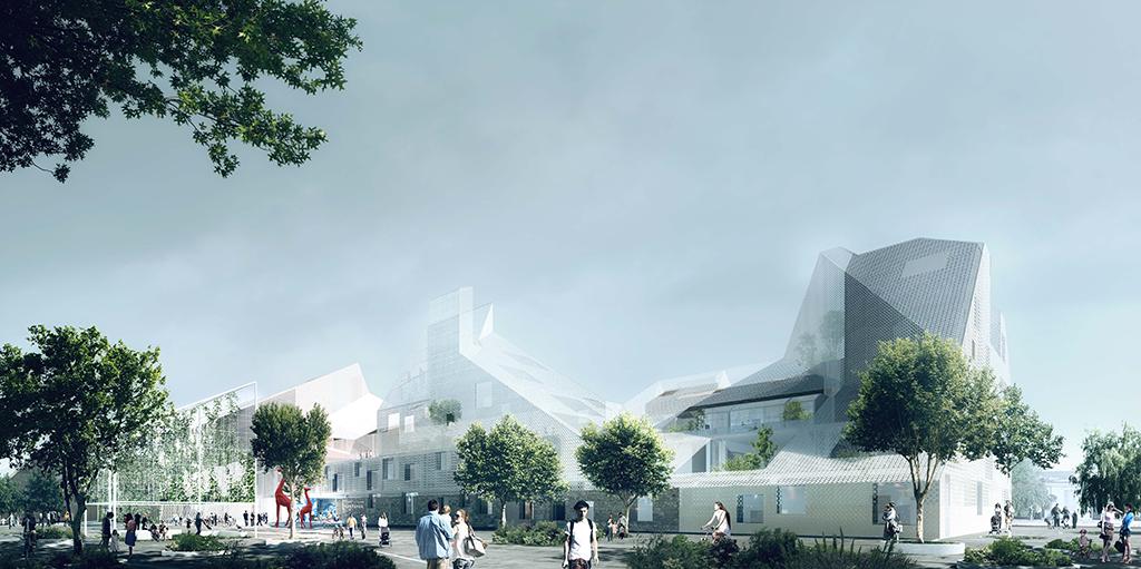 Groupe scolaire Hortense, Bordeaux, livraison prévue en 2020 © EGA Erik Giudice Architecture