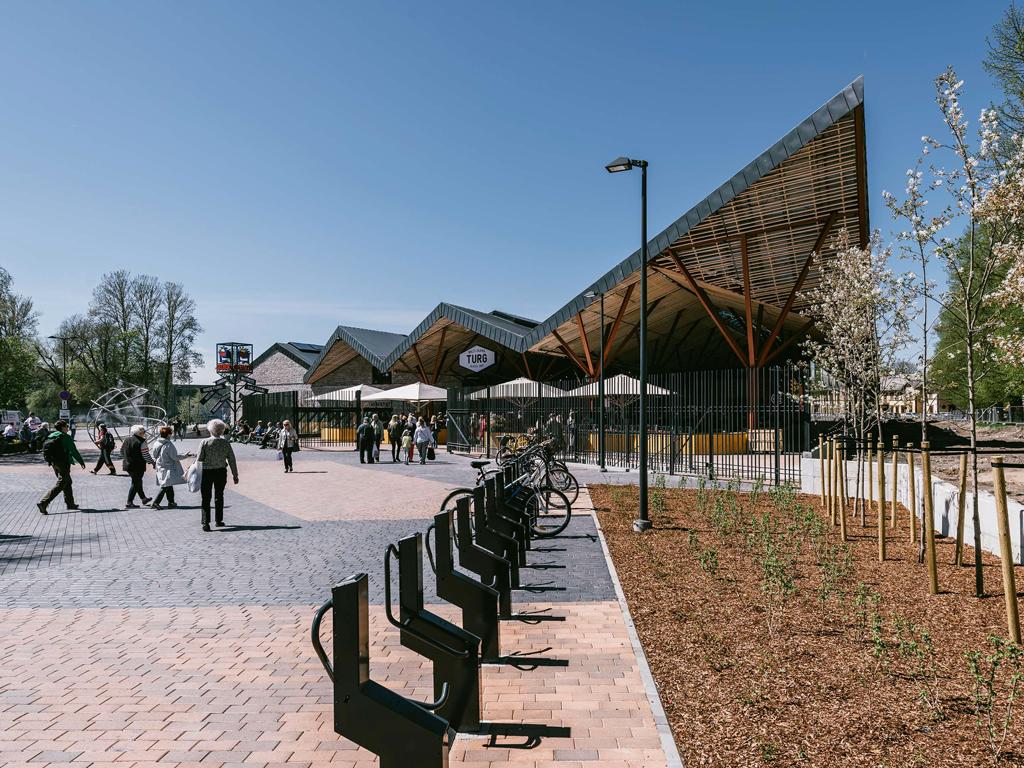 Halles, Baltic Station Market, Tallinn, Estonie, 2017 © KOKO architects + Tonu Tunnel
