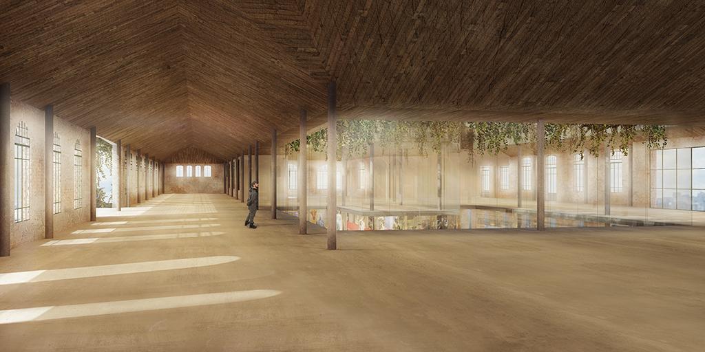 Rudy Riccioti a conçu Aqui, la plus grande salle d'exposition privée de São Paulo. © Cidade Matarazzo