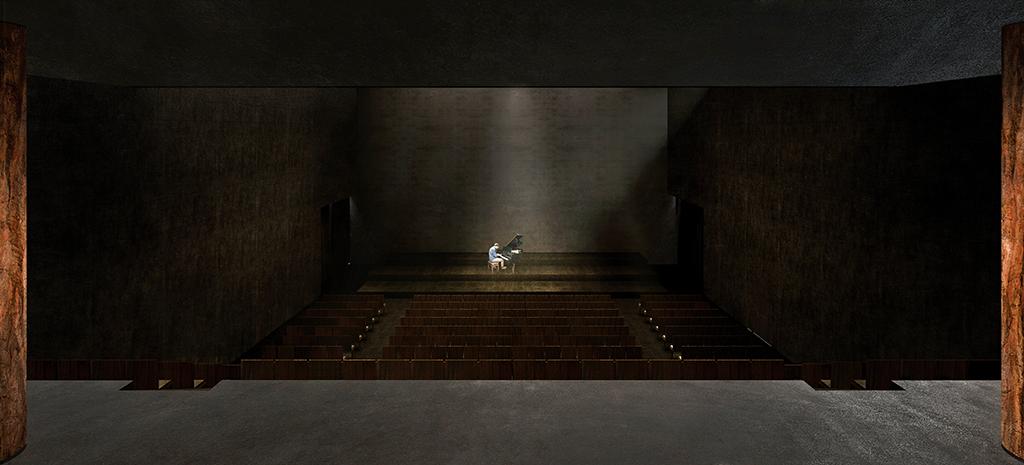 Le centre d'art conçu par Rudy Ricciotti. © Cidade Matarazzo