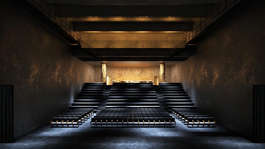 Le centre d'art conçu par Rudy Ricciotti accueillera un auditorium de 1 500 places et un théâtre de 500 places. © Cidade Matarazzo