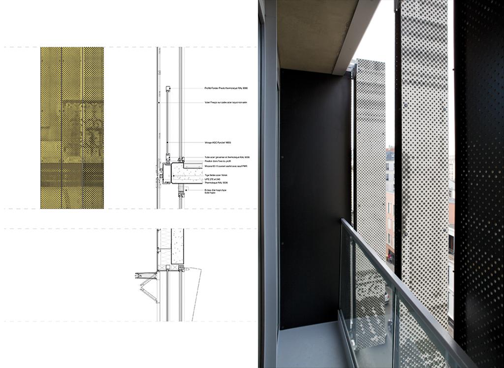 Chacun des 450 panneaux de bois et résine stratifiés est fixé dans un cadre en acier laqué. © Chartier-Corbasson © Romain Meffre & Yves Marchand