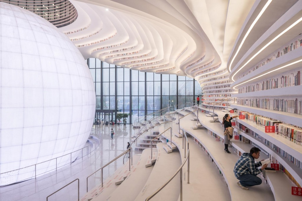 MVRDV, Tianjin Binhai Library , 2017 © Ossipe