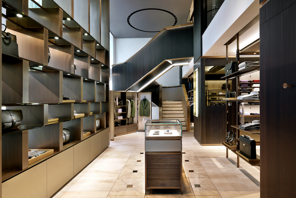 Flagship Store Brioni, Milan, 2014 © Andrea Martiradonna