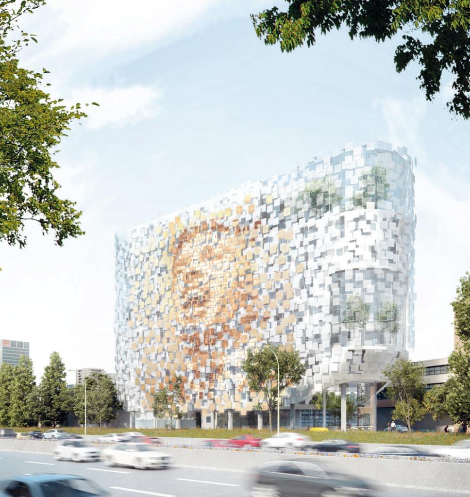 Mention spéciale. LiVE, 5 000m2 de bureaux, Marché à Ferraille, Bagnolet, en cours. Maud Caubet Architectes et Exception Nanolight © Maud Caubet