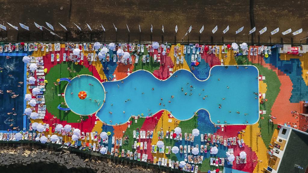 Vue aérienne de la piscine de la Ville d'Almetyevsk © Ivan Petrov
