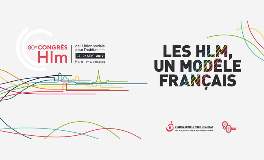 © USH - Bannière du 80ème congrès Hlm