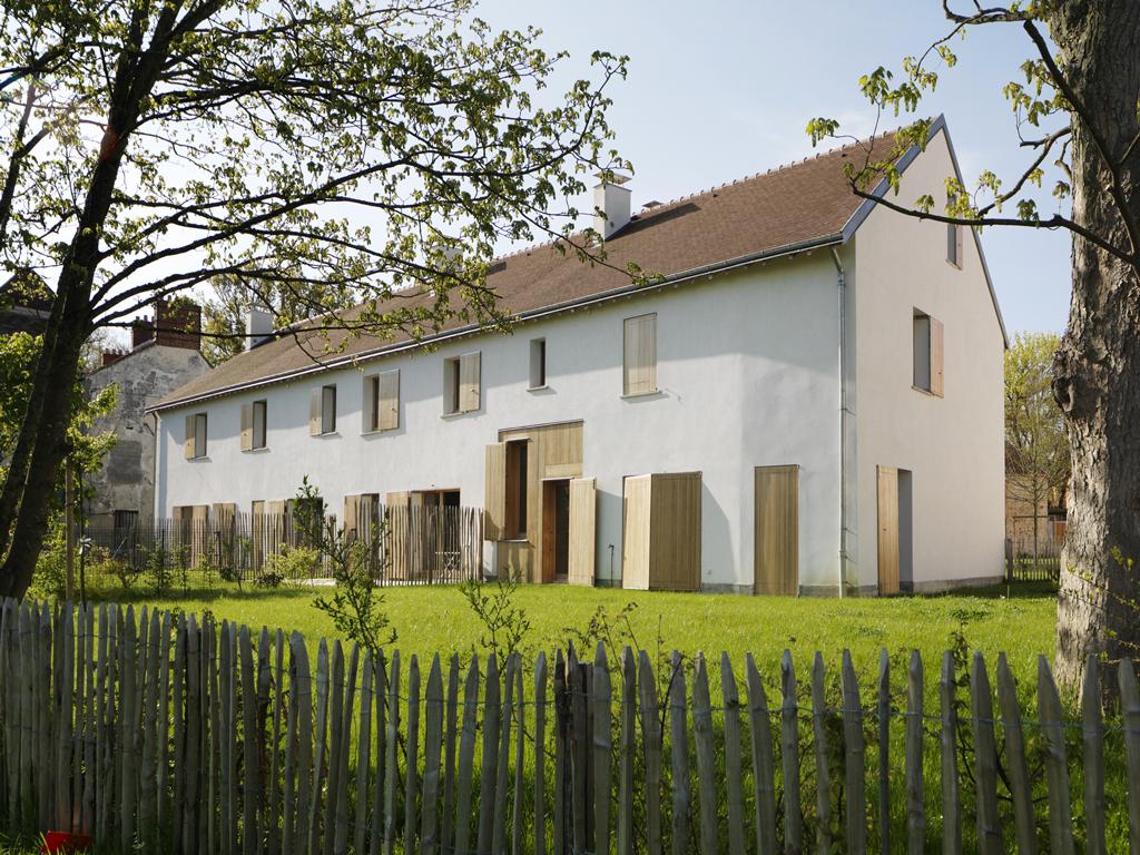 Dumont Legrand Architectes, 10 logements en béton de Chanvre aux Loges-en-Josas, Yvelines, 2015