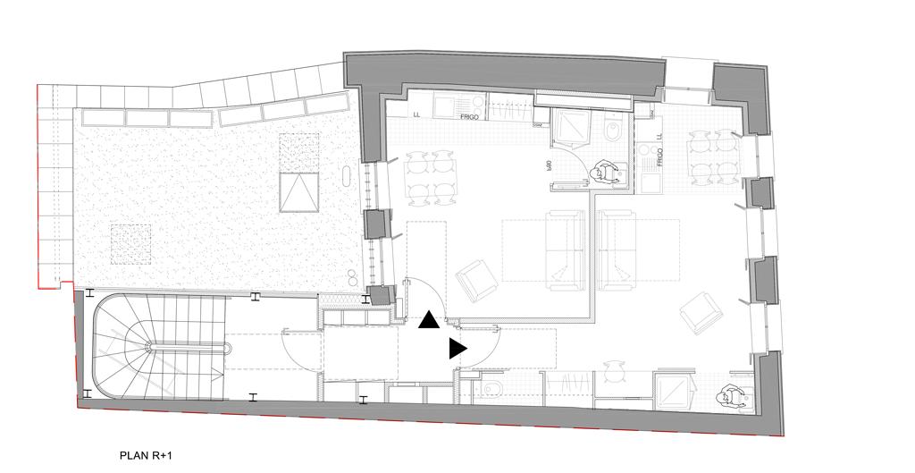Plan R+1 immeuble rue de la Huchette