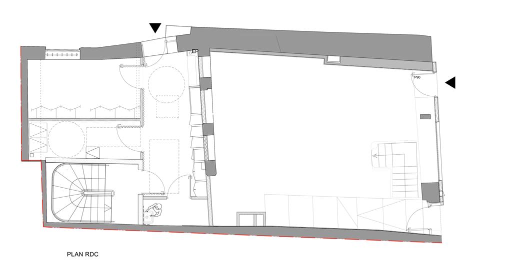 Plan RDC immeuble rue de la Huchette
