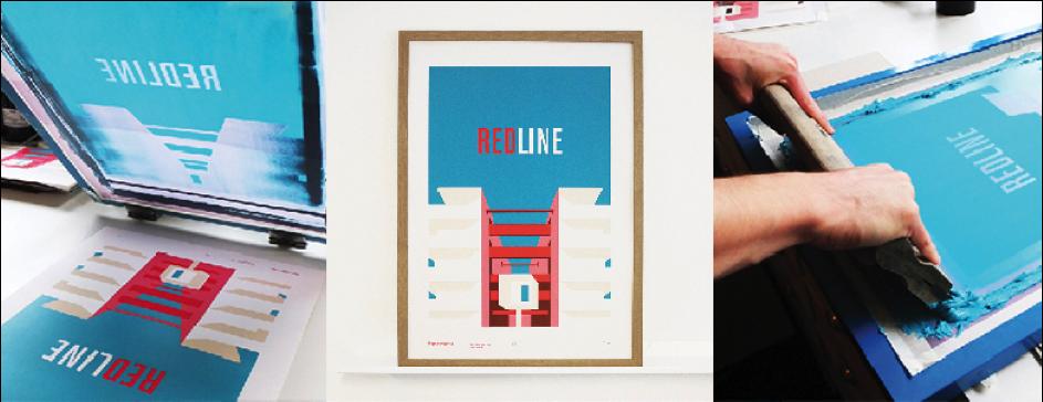 Affiche du projet Redline, Marie Philippe pour PietriArchitectes