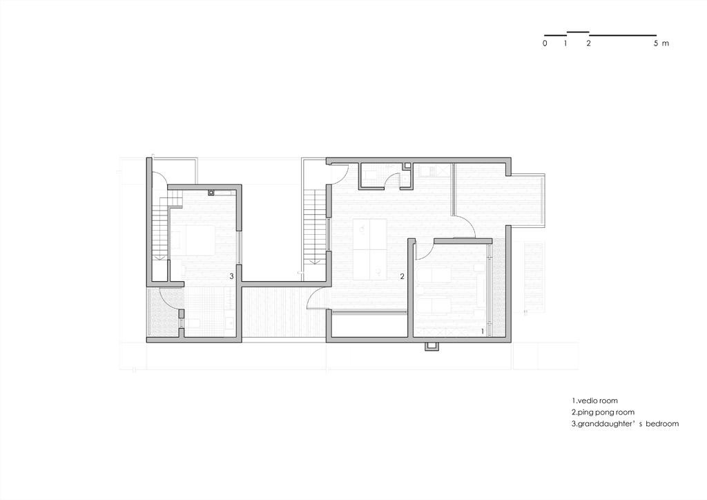 Song House, Plan deuxième étage, AZL Architects. 2017.