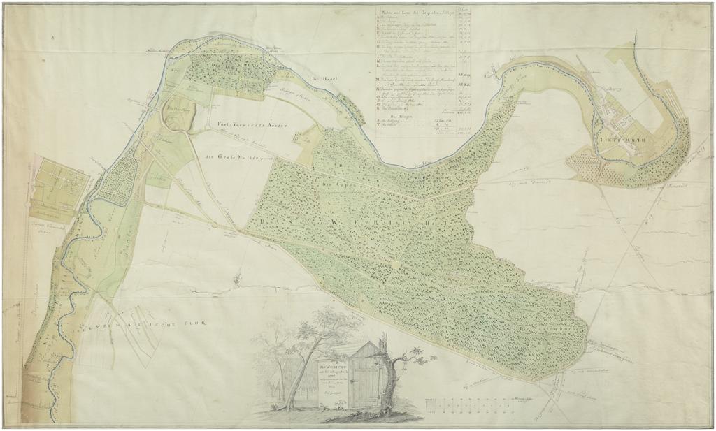 Parc de l'Ilm, Goethe, 1778.