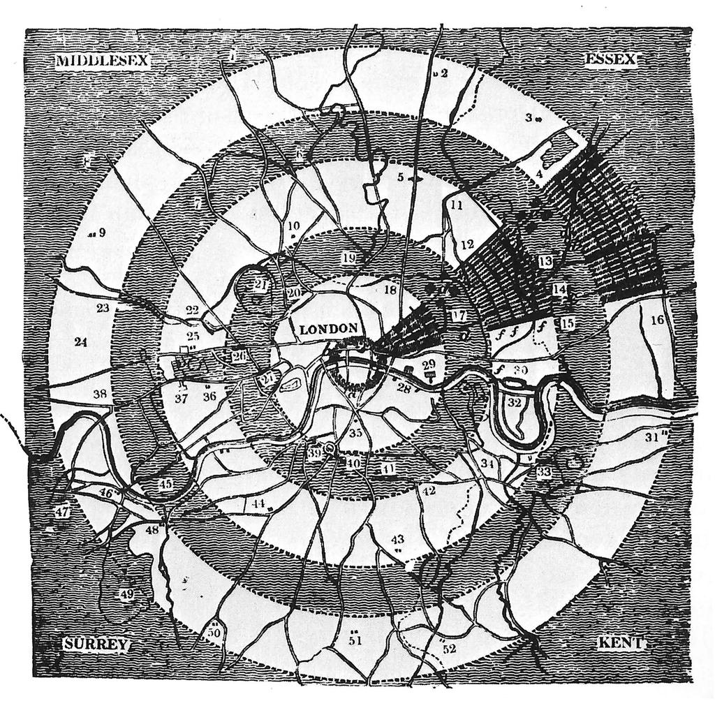 Programme de planification des espaces verts londoniens, John Claudius Loudon, 1829
