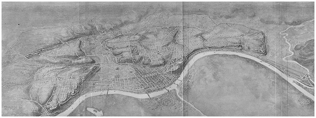 [Figure 5] Fredericka et George Kessler, Plan for a System of Parks, 1907. © Library of Congress