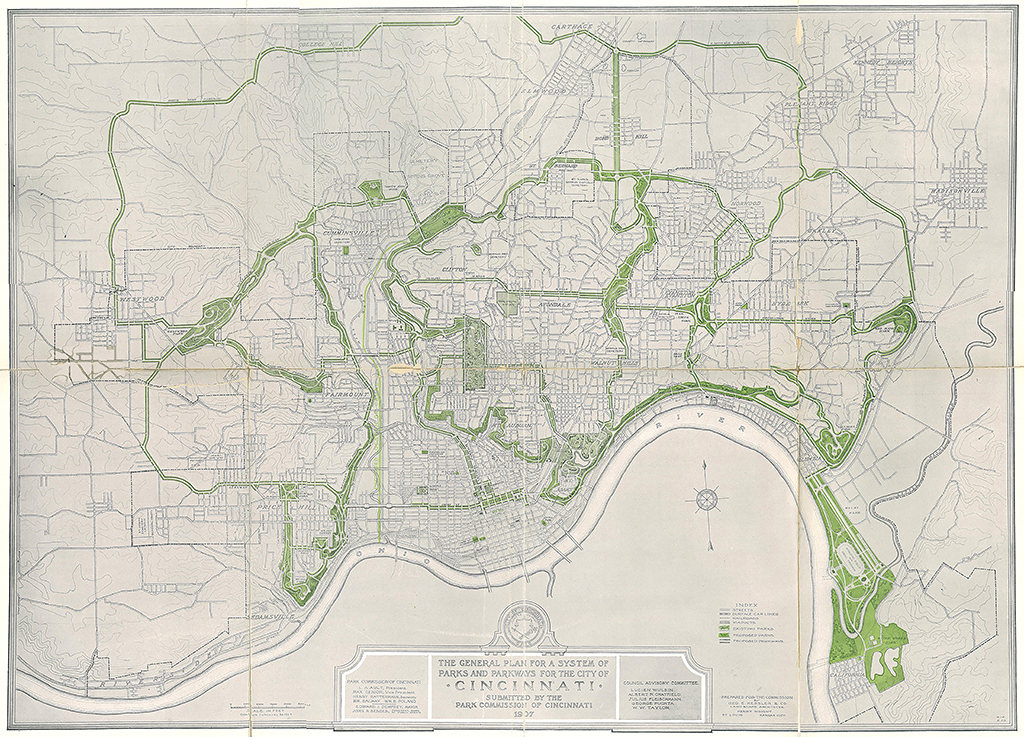 [Figure 4] Fredericka et George Kessler, Plan for a System of Parks, 1907. © Library of Congress