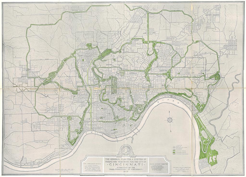 [Figure 4] Fredericka et George Kessler, Plan for a System of Parks, 1907. © Library of Congress