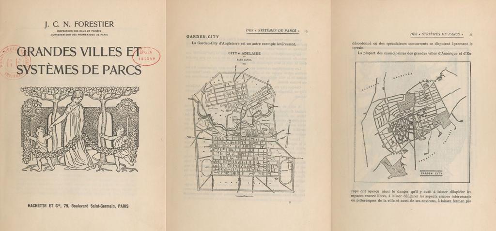 [Figure 2] Jean Claude Nicolas Forestier, Grandes Villes et Systèmes de Parcs, 1908. © Institut Français d'Architecture
