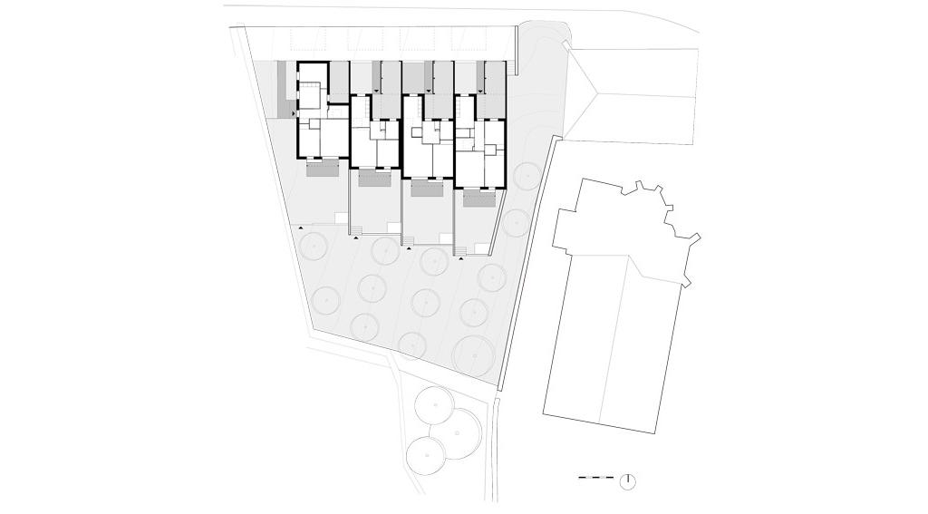 Plans - 4 logements seniors, centre bourg de Lagney (54), Bagard & Luron, 2016 © Benoit Bost