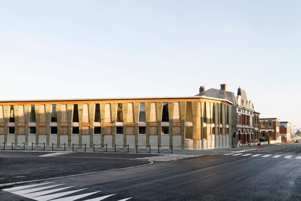 Pôle éducatif du Val de Scarpe, Arras (59), Ville d'Arras, avec Boris Bouchet Architectes. © Pascal Amoyel