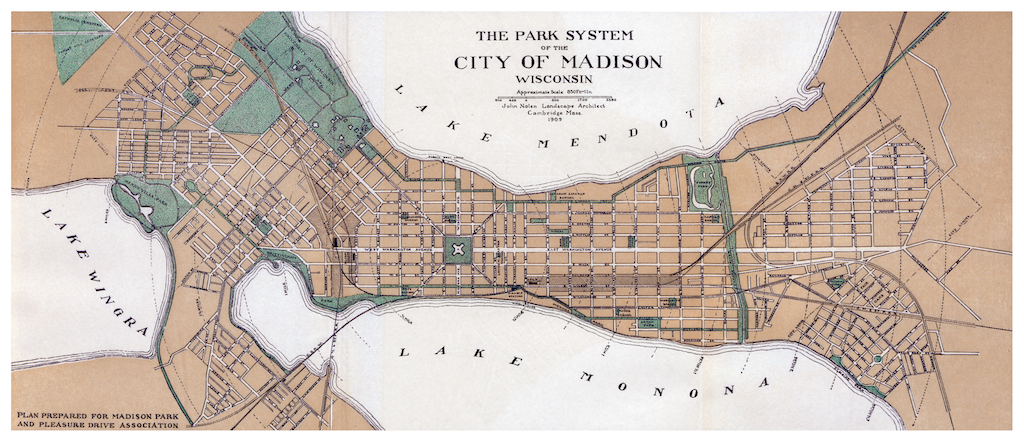 1909 : Nolen, Madison park system fabric