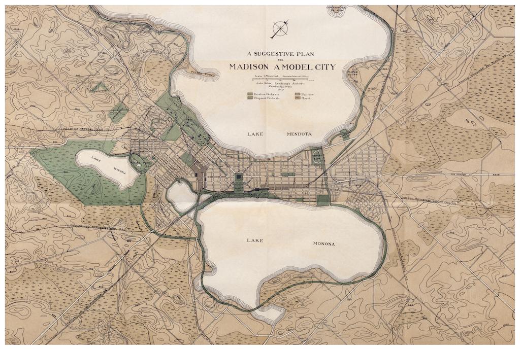 1910 : Nolen, Madison park system fabric