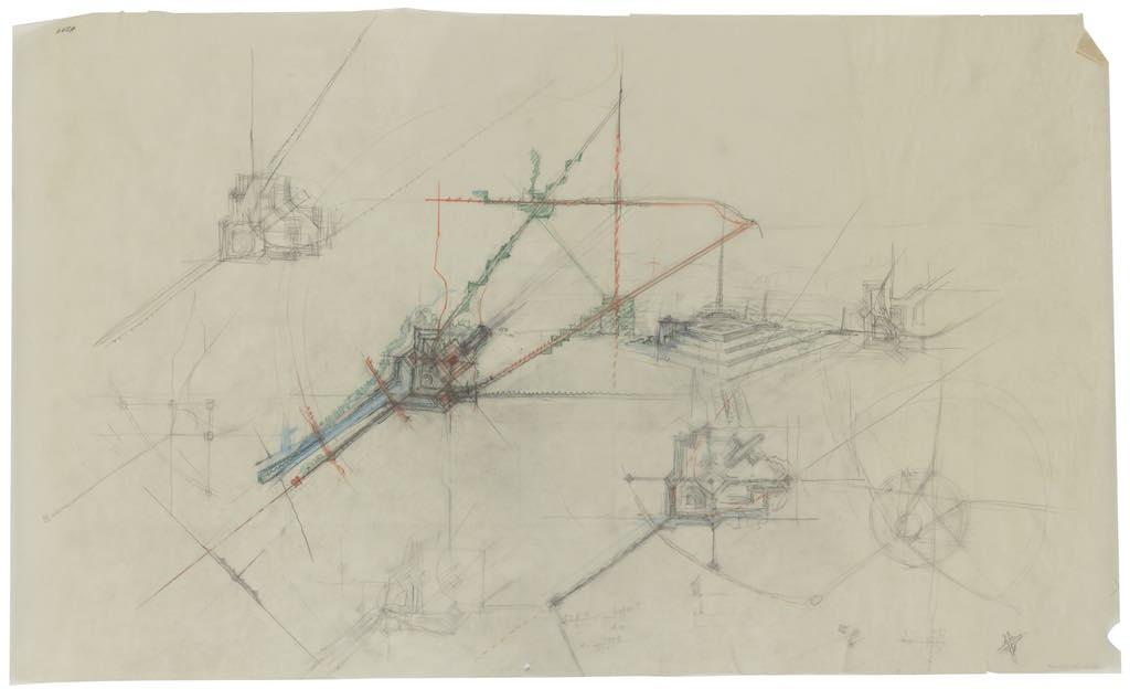 1962 Lloyd Wright - Schéma de plan régional de Los Angeles