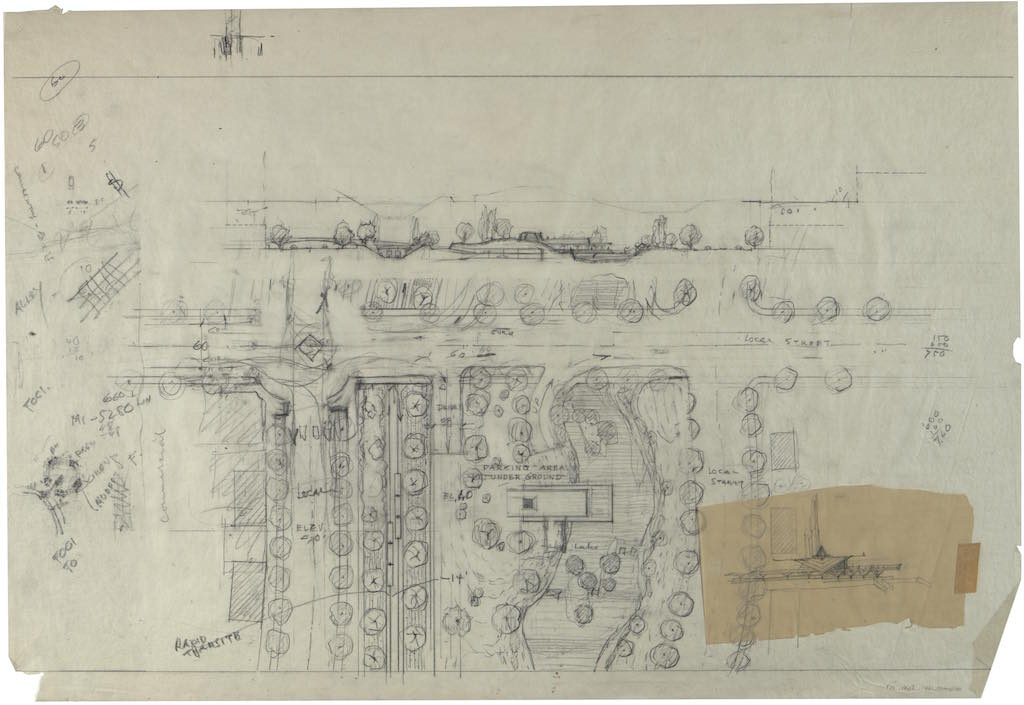 1963_lloyd wright_LA plan-sketch-homage-fabric
