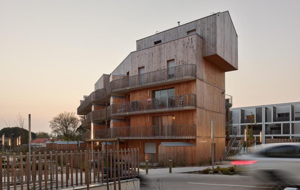 105 logements, ilôt 5 ZAC de La Jaguère, Rezé (44). ©Stéphane Chalmeau