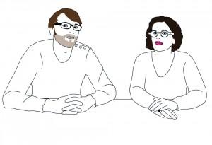 Hervé Potin et Anne-Flore Guinée.