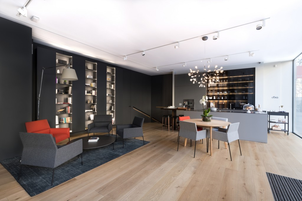 Showroom EBA (63, Bd Haussmann Paris 8), arq_m architecture, ©Élodie Gutbrod