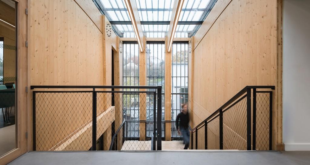 Boréal, un bâtiment neuf situé dans le Jardin d'Acclimatation à Paris, livré en 2019. Photo © Baptiste Lobjoy