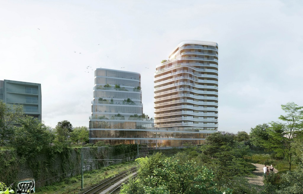 Immeuble mixte, Boulevard Carnod, Lille, Hamonic + Masson & Associés, © Yam Studio