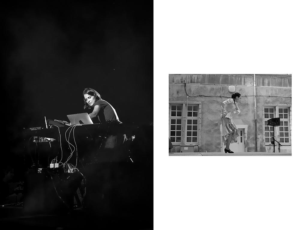 1- Compositrice & DJ, Chloé x Ircam, live à la Gaîté Lyrique, Paris | Danseuse de flamenco – Festival de Tournon © Vanessa Bosio