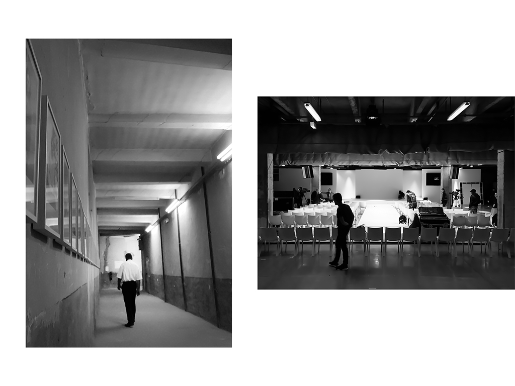 Gardien, La Disparition des Lucioles, Collection Yvon Lambert, Prison Saint Anne, Avignon | Equipe de tournage, ingénieurs son et monteurs, Événement à Cité de la Mode, Paris © Vanessa Bosio