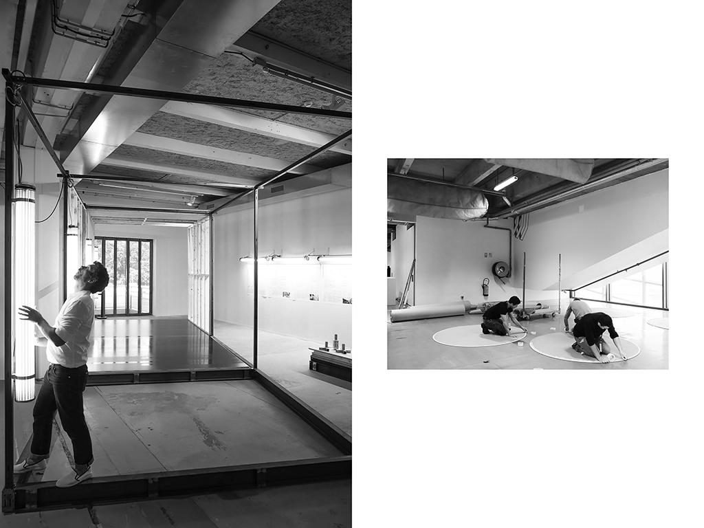 Architecte, Philippe Rizzotti, Montage de la Biennale d'Architecture, La Sucrière, Lyon | Tapissiers, préparation d'un événement à Cité de la Mode, Paris © Vanessa Bosio