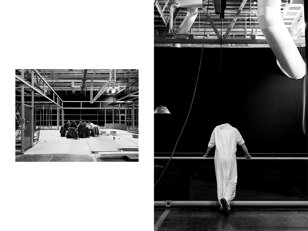 Réunion de chantier - Cité des sciences & de l'industrie | Régisseur – Pose d'enseigne - Cité des sciences & de l'industrie Paris © Vanessa Bosio