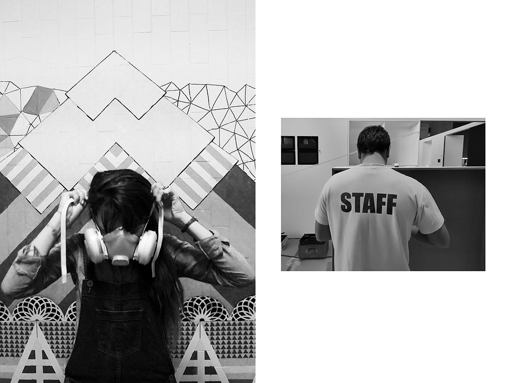Muraliste, Art urbain, Koralie - « Quai 36 » Gare du Nord Paris | Menuisier - montage d'exposition - Cité des sciences & de l'industrie Paris © Vanessa Bosio
