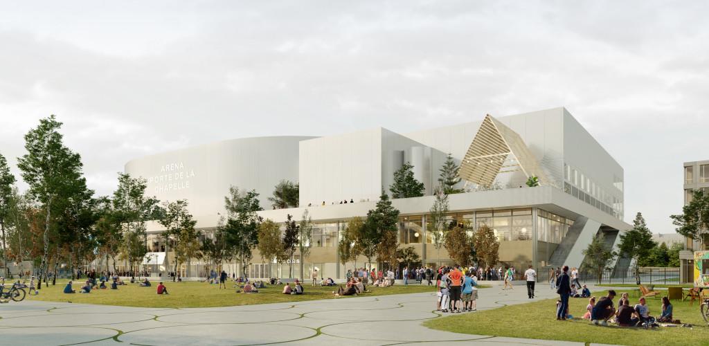 Arena, Porte de la Chapelle, Paris © SCAU / NP2F. Perspecteur Artefactory