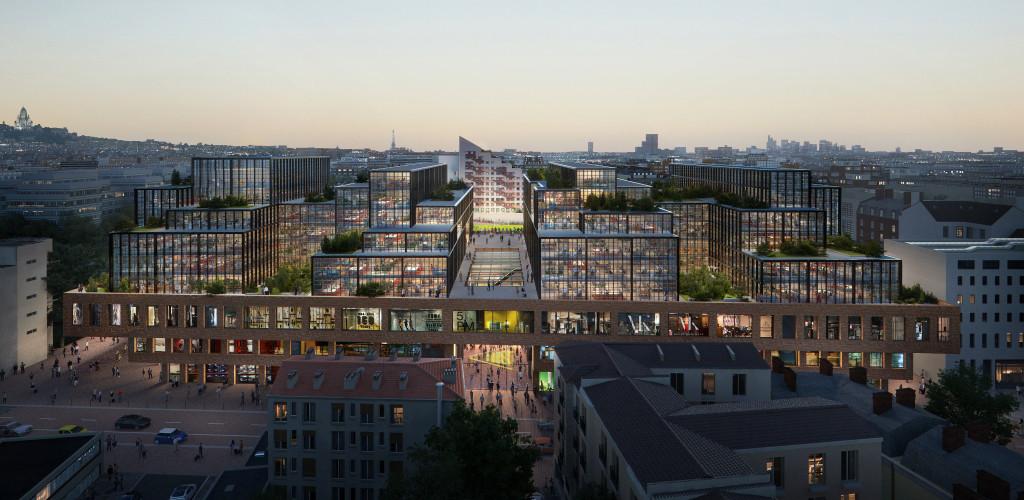 Bauer District, Saint-Ouen © SCAU architecture / Clément Blanchet Architecture. Image Plomb