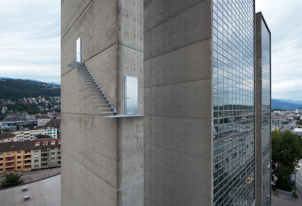 Lang/Baumann. Beautiful Steps #2. Acier zinc, aluminium anodisé. 2009 Bienne, Suisse © Lang/Baumann