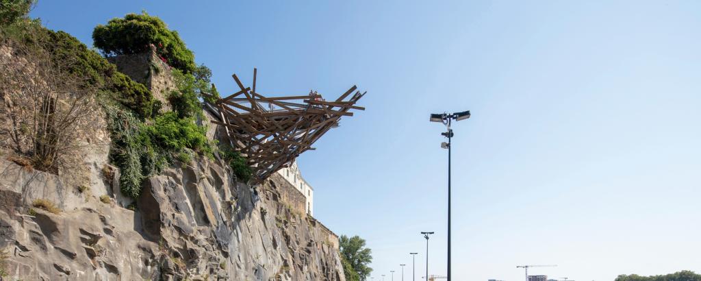 Tadashi Kawamata. Structure du belvédère. Nantes. 2019. © Martin Argyroglo - LVAN