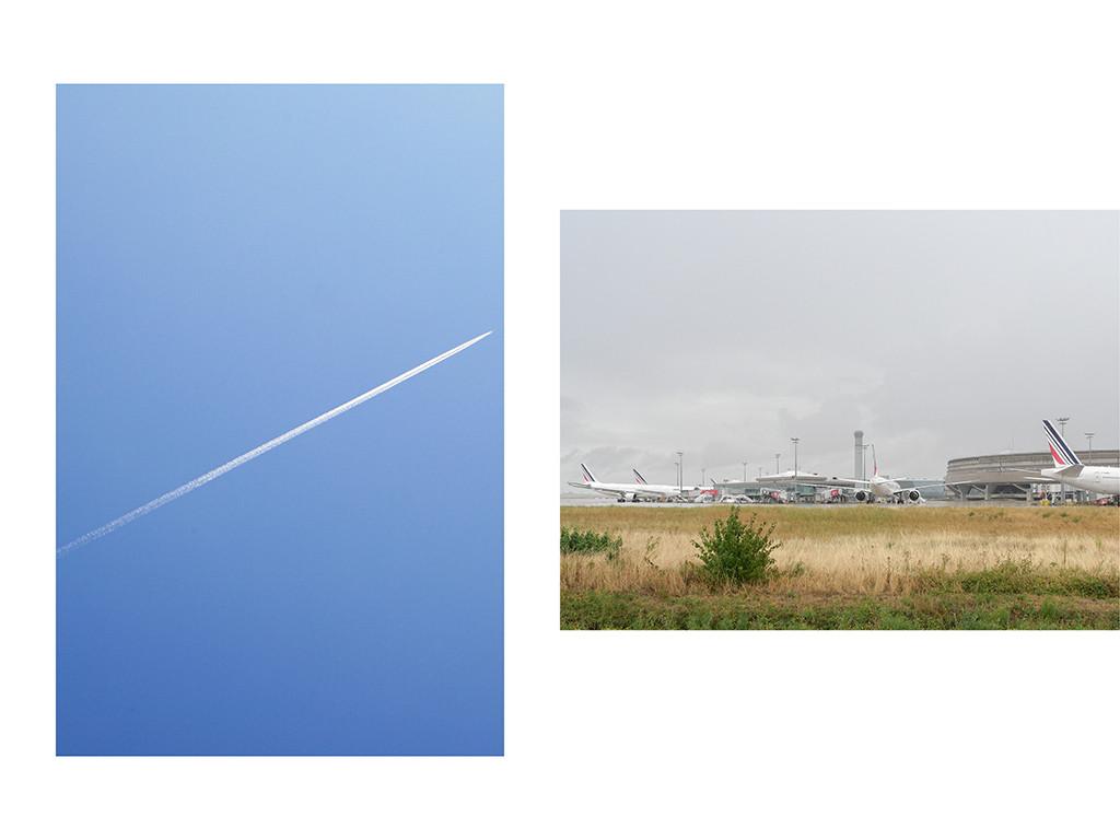 Ciel bleu, Paris / Terminal 1, Aéroport Charles de Gaule, Roissy © Vanessa Bosio