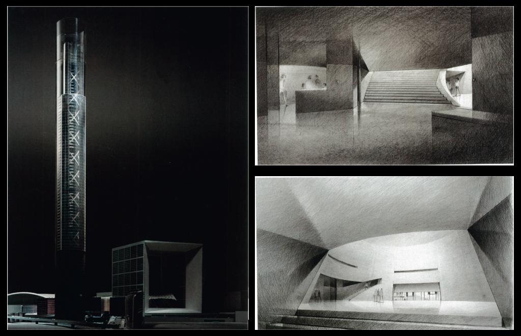 Jean Nouvel, Projet pour La Tour sans fins, Paris La Défense, 1988-1992 © L'Architecture d'Aujourd'hui